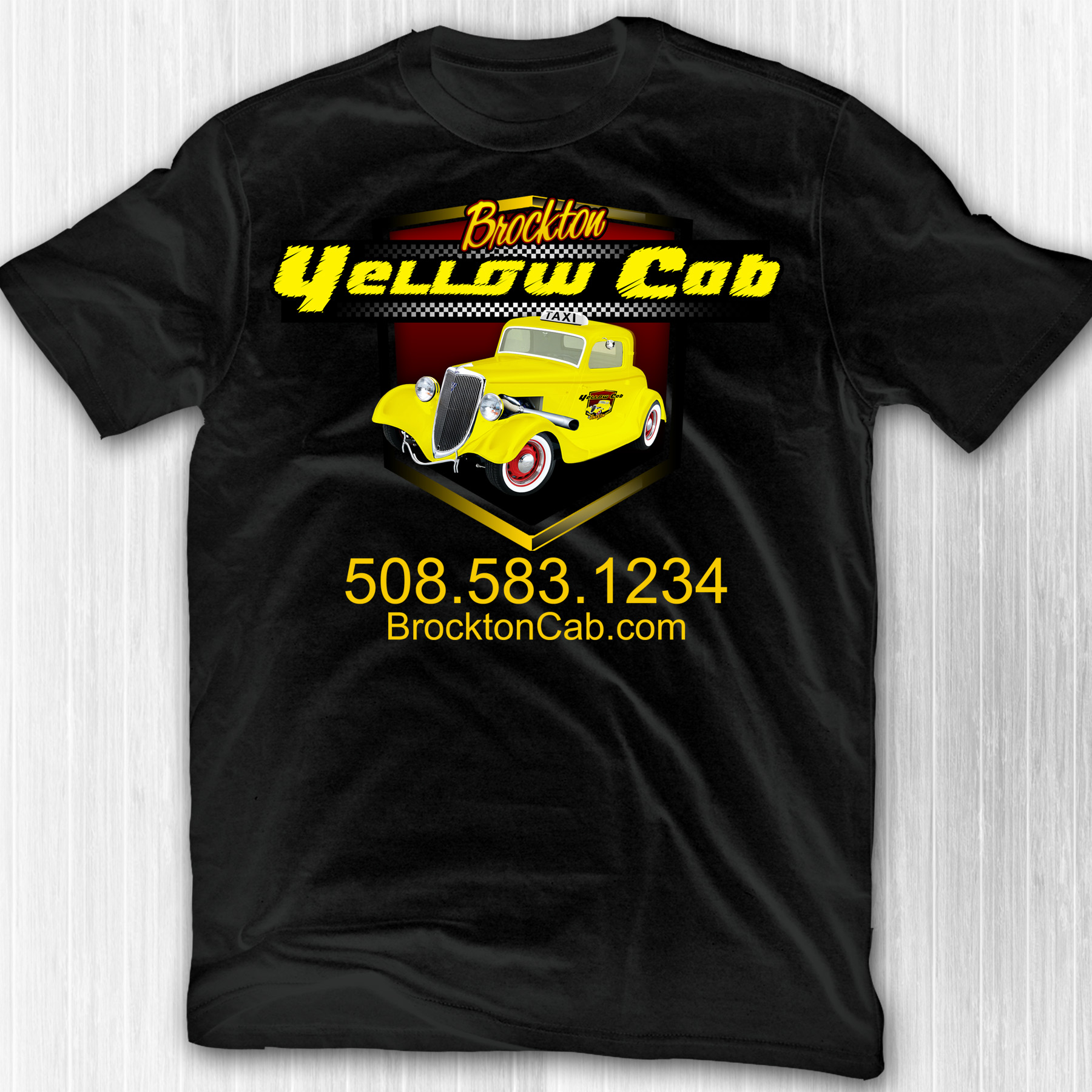 Yellow cab shirt