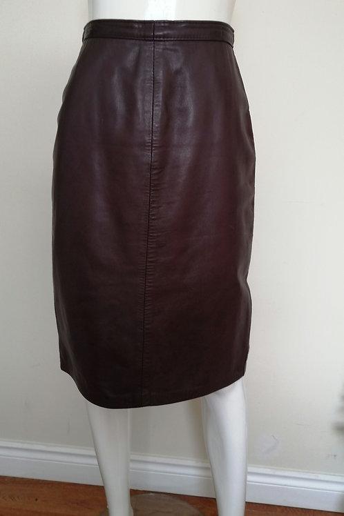 Jupe|\ Skirt en cuir Du Capra M