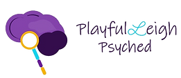 PlayfulLeigh Psyched bubbles logo