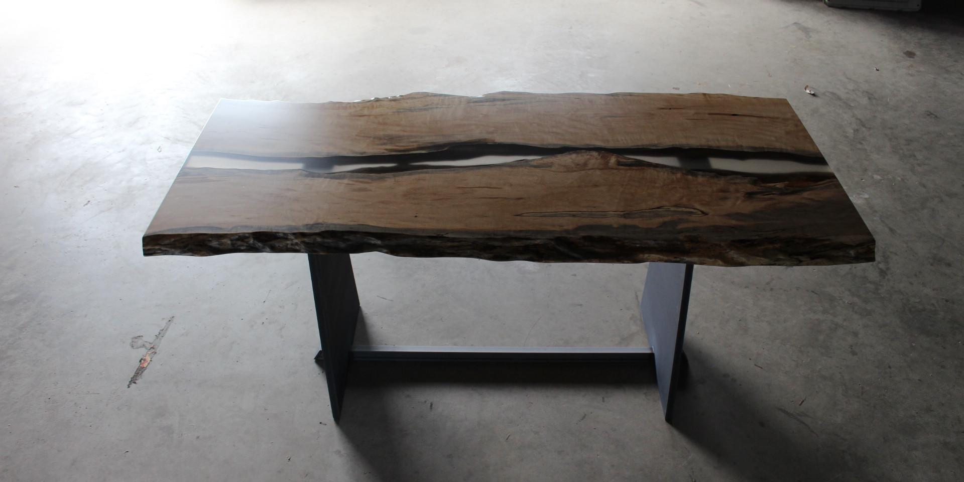 紅葉のレジンテーブル