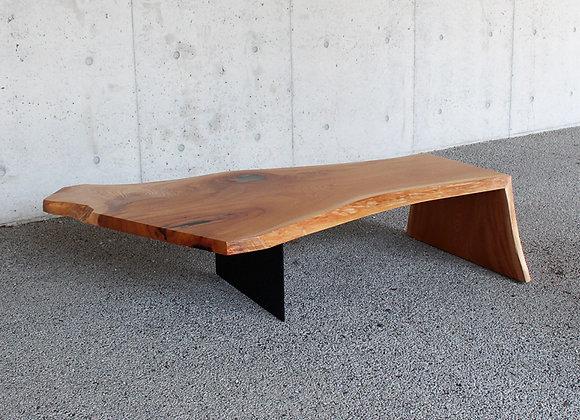 欅(けやき)の一枚板ローテーブル(ONEBOARD Table):【送料無料】