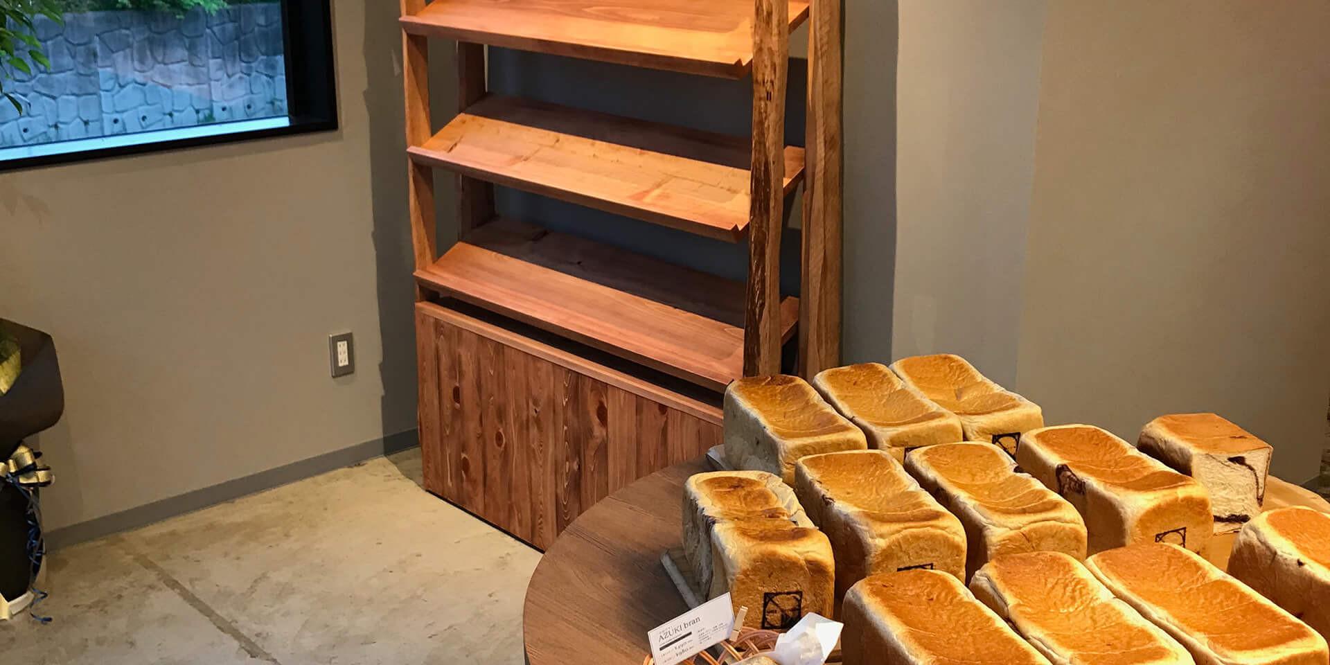 食パンストック棚