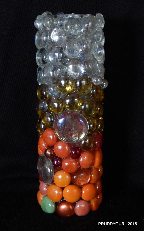 Orange Base Vase