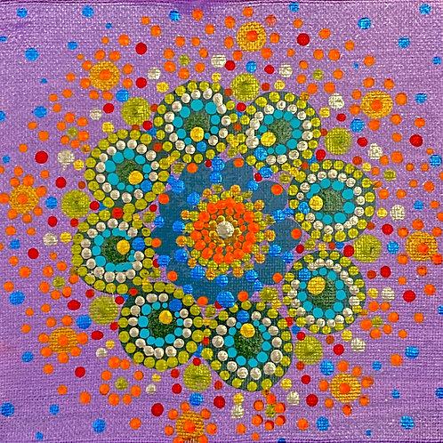 """Cactus Blooms (6"""" x 6"""")"""
