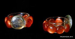Orangish/Clear Tealight Holder