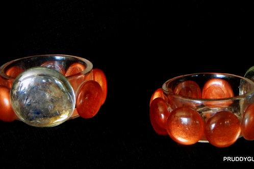 Orange/Clear Tealights