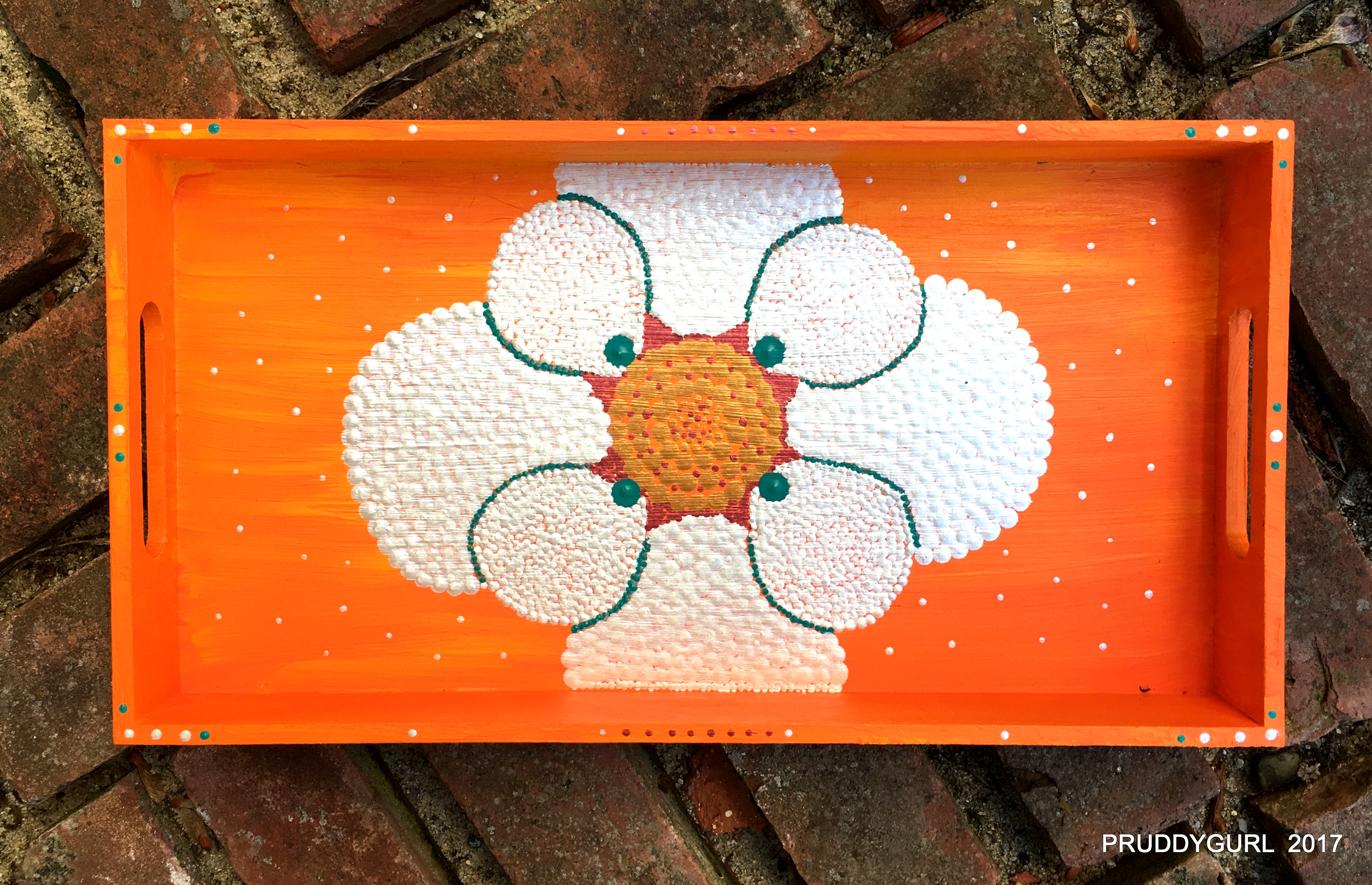 white orange tray brick WM