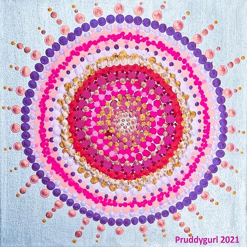"Pink Spinel Sun (""10 x 10"")"