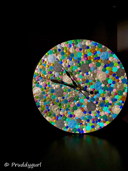 """Speckled Clock (9"""")"""
