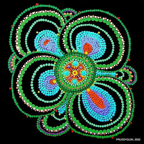 "Tropical Sea Flower (10"" x 10"")"
