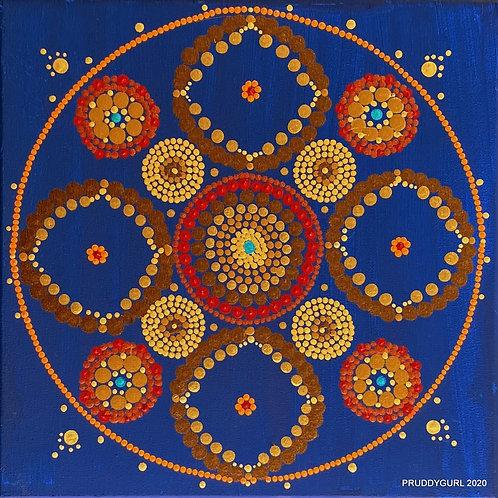 """Earthtone Mandala (12"""" x 12"""")"""