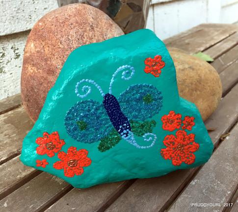 Fantasy Butterfly Rock Art