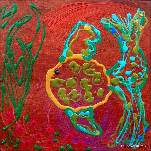 "The Fishie, The Starfish & The Seaweed (12"" x 12"")"