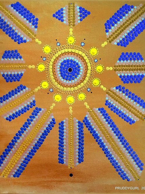 """Crystal Sun (18"""" x 24"""")"""