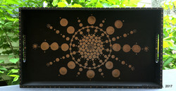 Bronze and Black Wooden Tray WM