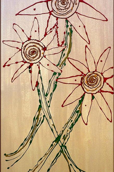 Amazonian Blooms (2' x 4')