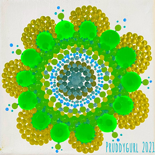 "Flower Peridot (6"" x 6"")"