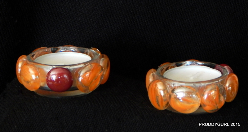 Orange Swirl and Red Tealights