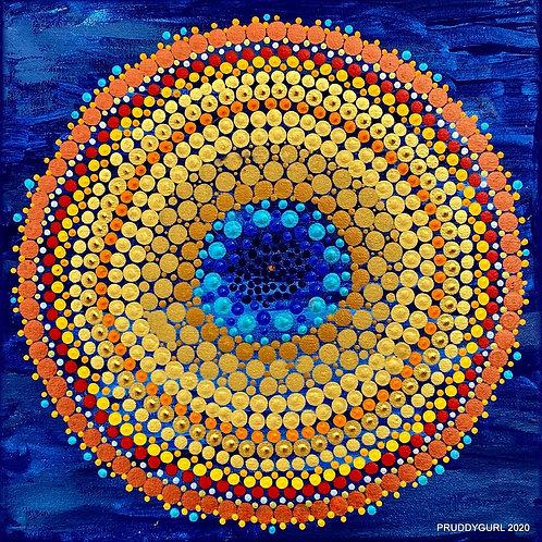 """Pietersite Moon (12"""" x 12"""")"""