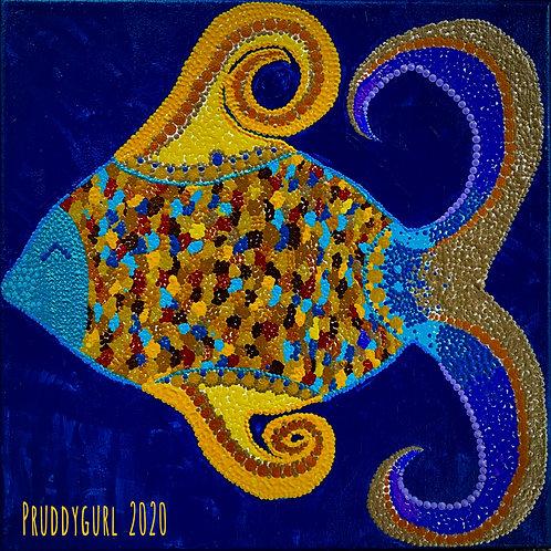 """Ku oko a Fish (12""""x 12"""")"""
