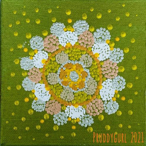 "Green Opal Bloom (6"" x 6"")"