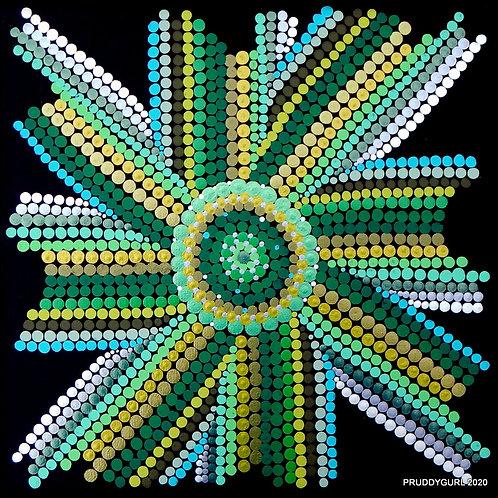 """Serpentine Star (12"""" x 12"""")"""