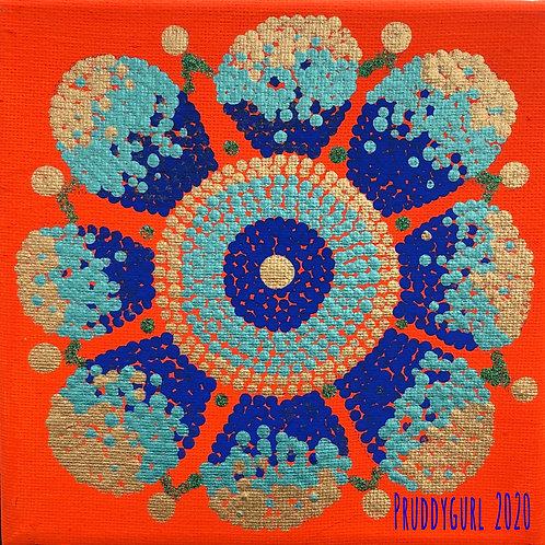 "Sparkle Bloom (6"" x 6"")"