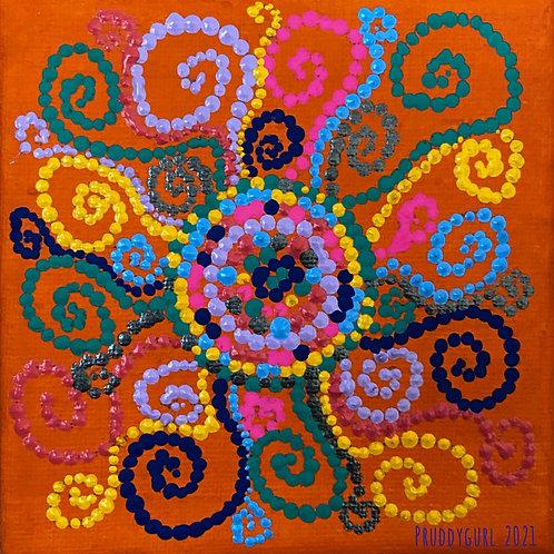 """Sol Multicolorido (4"""" x 4"""")"""