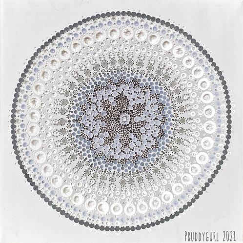 """Howlite Moon (18"""" x 18"""")"""