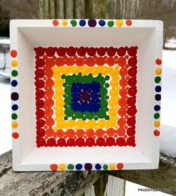 White Rainbow Tray 5x5 WM