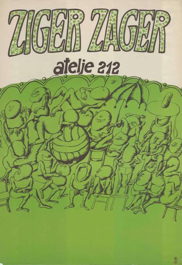 RN: ZC216 dimensions / διαστάσεις: 69,5cmΧ100cm country of origin / χώρα προέλευσης: RS year / έτος: 1979  english text:   ZIGER ZAGER Atelje 212 BGZ BELGRADE GRAPHIC INSTITUTE   original text:  ZIGER ZAGER Atelje 212 BGZ BEOGRADSKI GRAFIČKI ZAVOD  usufull link / χρήσιμοι σύνδεσμοι: https://arhiva.atelje212.rs/predstave/%D0%B7%D0%B8%D0%B3%D0%B5%D1%80-%D0%B7%D0%B0%D0%B3%D0%B5%D1%80/