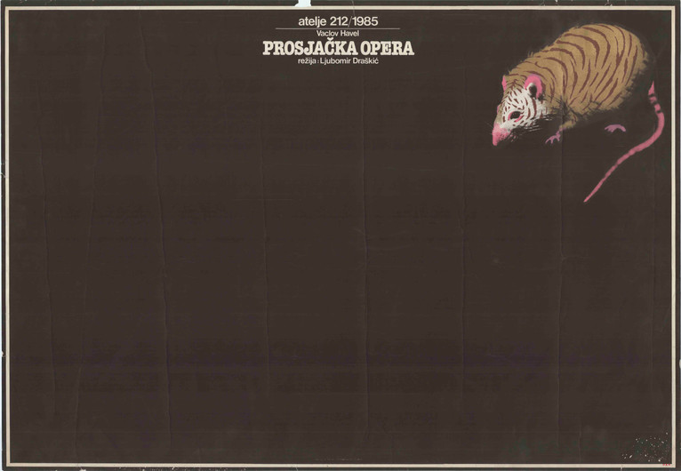 RN: ZC215 dimensions / διαστάσεις: 99cmΧ68,5cm country of origin / χώρα προέλευσης: RS year / έτος: 1985  english text:  Atelje 212/1985 Václav Havel THE BEGGAR'S OPERA DIRECTOR: Ljubomir Draškić  original text:  Atelje 212/1985 Vaclav Havel PROSJAČKA OPERA Režija: Ljubomir Draškić  usefull links / χρήσιμοι σύνδεσμοι: https://arhiva.atelje212.rs/predstave/%D0%BF%D1%80%D0%BE%D1%81%D1%98%D0%B0%D1%87%D0%BA%D0%B0-%D0%BE%D0%BF%D0%B5%D1%80%D0%B0/