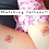 Thumbnail: Anxiety Relief Temporary Tattoos for Kids - The Cuddle Button - Pack of 18 Red H
