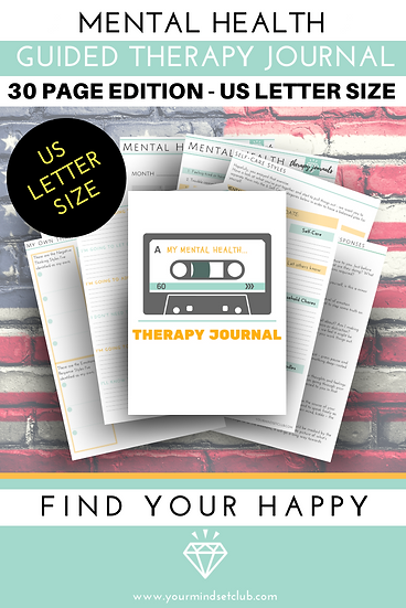 US Letter Size Mental Health Therapy Journal Workbook