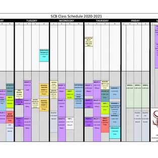 New 2021 Dance Schedule