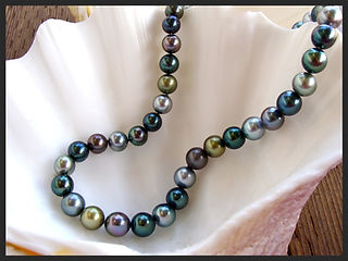 tahitian black pearl, black pearl strand, south sea pearls, multi color pearls, pearl jewelry, pearl necklace, pearl strand, jewelry made in hawaii