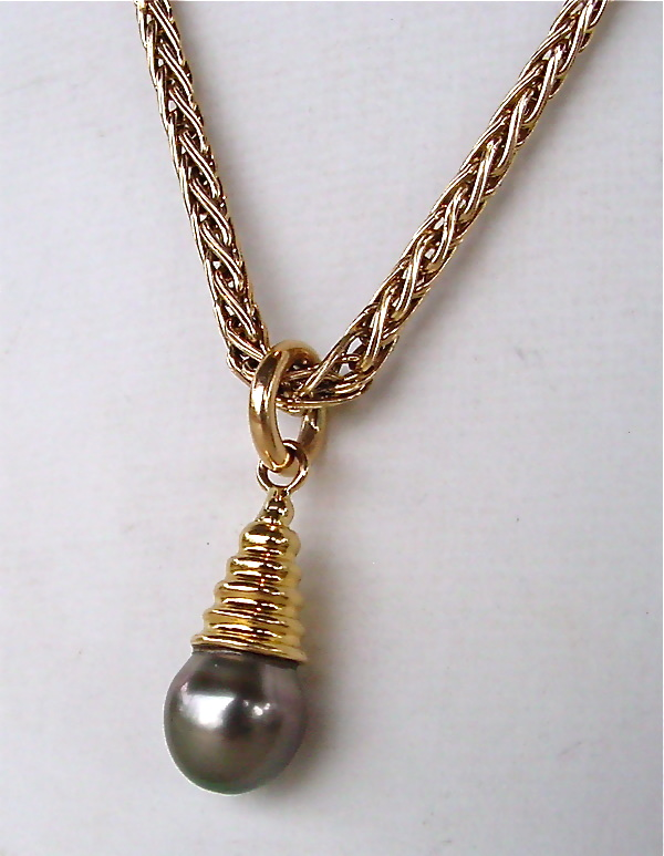 Tahitian Black Pearl Pendant