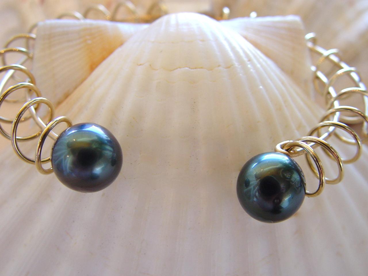 Tahitian Black Pearl Bracelet