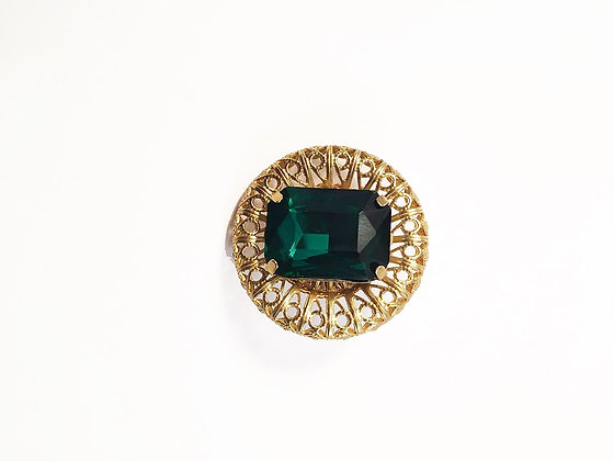 Green Round Pin