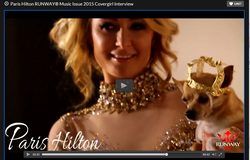 Paris Hilton Runway Mag dog crown