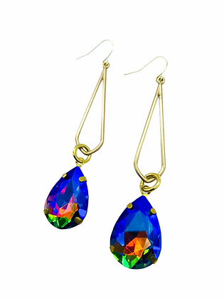 Rainbow Iridescent Drop Earrings