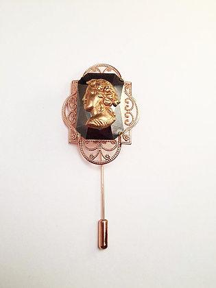 Cameo Rose Gold Lapel Pin