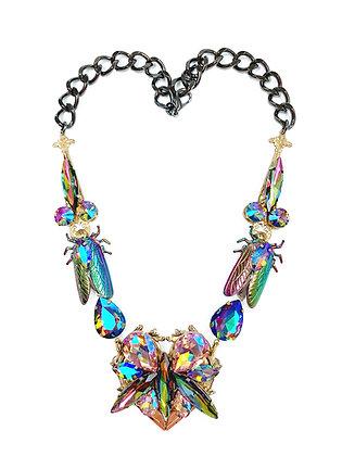Rainbow Iridescent Heart Necklace