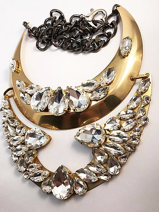 Large Moon Bib Necklace