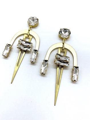 Geometric Rhinestone Earrings