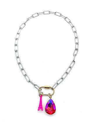 Hot Neon Pink Layered Necklace