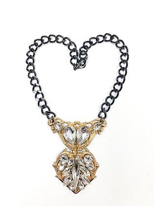 Add on Rhinestone Heart Necklace