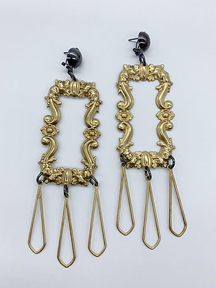 Large Baroque Open Faced Earrings