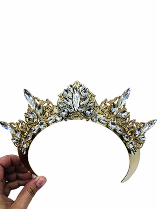 Add On Clear Heart Band Crown