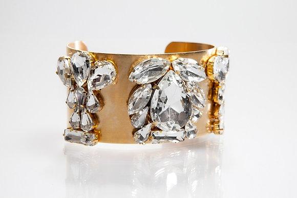 Gold Rhinestone Cuff Bracelet